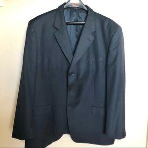 Jones New York Navy Pinstripe Suit Coat